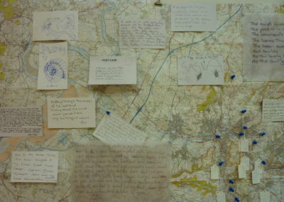 Mapping visitor postcards and local springs